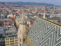 Katedra Św. Szczepana w Wiedniu - widok z wieży